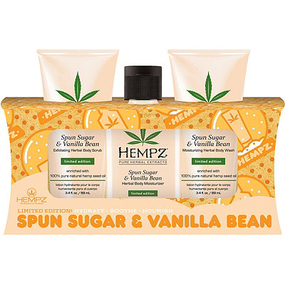 Hempz Spun Sugar %26 Vanilla Bean Holiday Rush Set