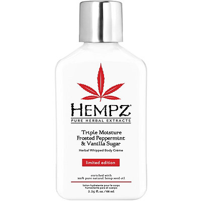 HempzLimited Edition Travel Size Triple Moisture Frosted Peppermint %26 Vanilla Sugar Herbal Whipped Body Cr%C3%A8me