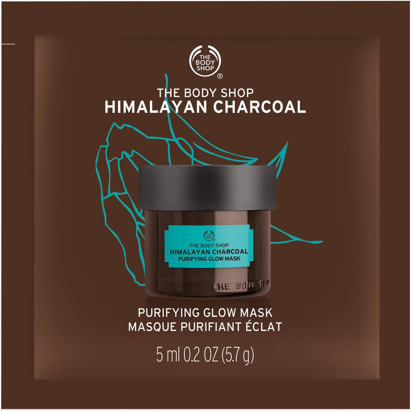 Himalayan Charcoal Purifying Glow Mask Sachet by The Body Shop