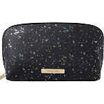 Black Space Foil Medium Clutch