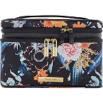 Floral Knit Double Zip Train Case