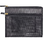 Basics Mesh 2 Zip Flat Clutch
