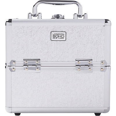 Soho Silver Eye Pop Crosshatch Beauty Case