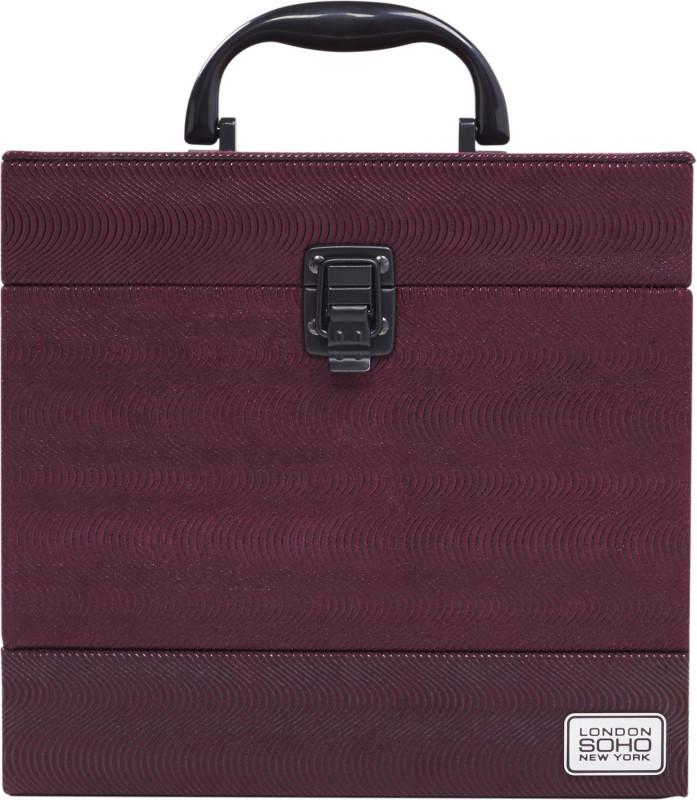 ea6fe8815540 Soho Triple Slider Burguny Wine Beauty Case
