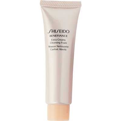 Shiseido FREE deluxe sample Benefiance Extra Creamy Cleansing Foam w%2Fany %2455 Shiseido purchase