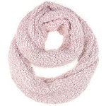 Pink Popcorn Feather Loop Scarf