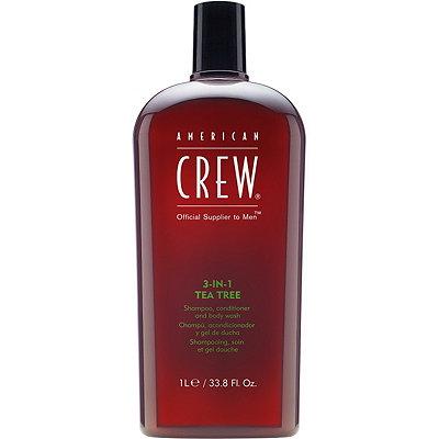 American Crew3-in-1 Tea Tree Shampoo, Conditioner and Body Wash