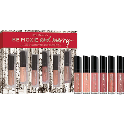 BareMineralsBe Moxie and Merry 6 Pc Mini Marvelous Moxie Lip Gloss Collection