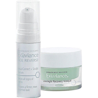 Exuviance FREE deluxe samples Overnight Recovery Masque %2B Total Correct %26 Sculpt Serum w%2Fany Exuviance purchase