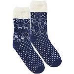 Navy Fairisle Slipper Socks