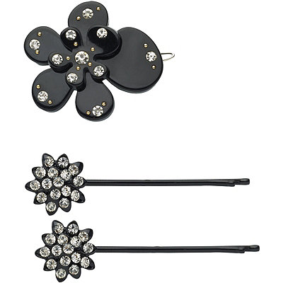 Karina Black Bobby Pin Set