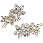 Gold with Crystal Rhinestone Clips