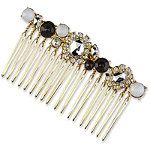 Gold with Colored Stones Side Comb