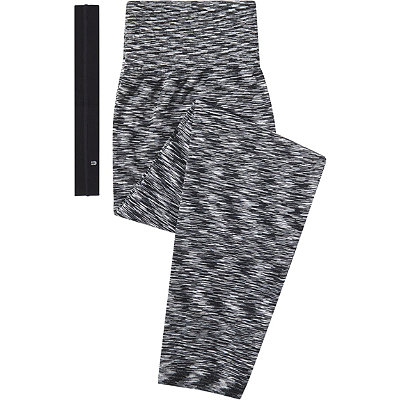 Scünci Fitness Duo Black and White Leggings with Head Wrap