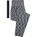 Fitness Duo Black and White Leggings with Head Wrap