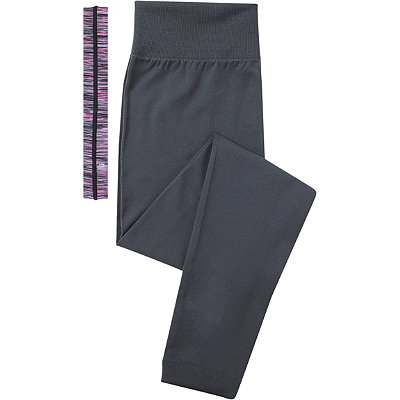 Scünci Fitness Duo Charcoal Leggings with Head Wrap