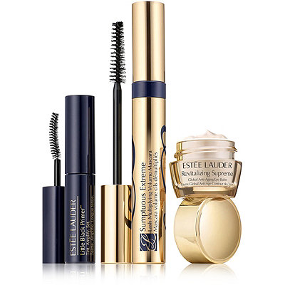 Estée Lauder Sumptuous Extreme Lash Multiplying Volume Mascara %2B Revitalizing Supreme Eye Balm and Little Black Primer