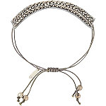 Silver Drawstring Bracelet