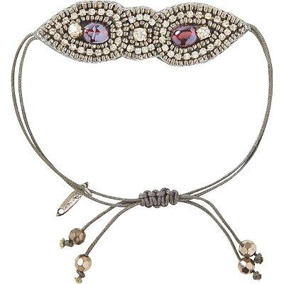 Pink PewterPurple Drawstring Bracelet