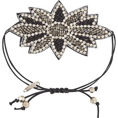 Pink PewterBlack Drawstring Bracelet