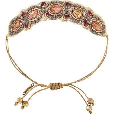 Pink PewterBronze Drawstring Bracelet