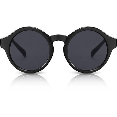 PerverseDr. Who %22Cares%22 Black Round Sunglasses
