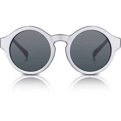 Perverse Dr. Who %22Cures%22 White %26 Black Round Sunglasses