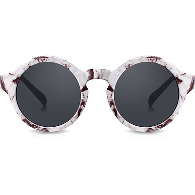 Perverse Dr. Who %22Loves%22 Marbled Round Sunglasses