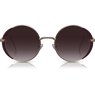 Perverse Florence %22Machine%22 Gold %26 Maroon Round Sunglasses