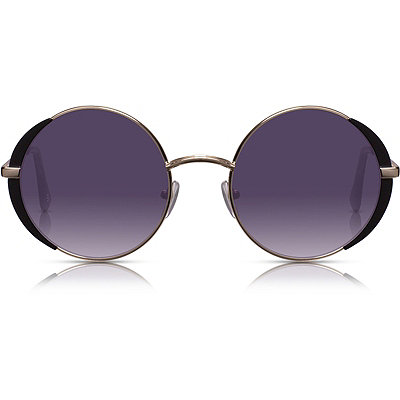 PerverseFlorence %22Camberwell%22 Gold %26 Black Round Sunglasses