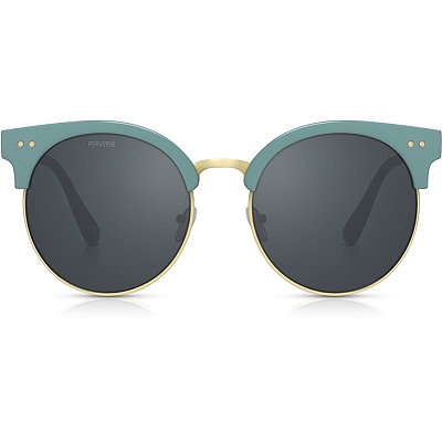 PerverseFresh %22Dirty Teal%22 Gold %26 Teal Clubmaster Sunglasses
