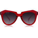 Hater Blocker %22Kinda Red%22 Red Retro Square Sunglasses