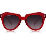 Hater Blocker ''Kinda Red'' Red Retro Square Sunglasses