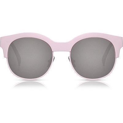 PerverseKayla Ray %22Pink%22 Matte Pink Half-Rim Clubmaster Sunglasses
