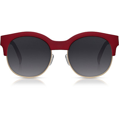 Perverse Kayla Ray %22Red%22 Matte Red Half-Rim Clubmaster Sunglasses