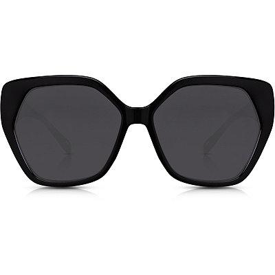 PerversePhoenix %22Sass%22 Glossy Black Oversize Square Sunglasses