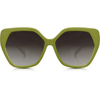 PerversePhoenix %22Tipsy%22 Olive Green Oversize Square Sunglasses