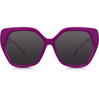 PerversePhoenix %22Bonjour%22 Magenta Oversize Square Sunglasses