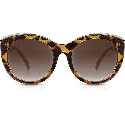 PerversePower House %22Tigress%22 Tortoise Oversize Roundish Sunglasses