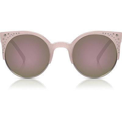PerverseShe Voyeur %27%27Pink Marble%27%27 Half-Rim Sunglasses