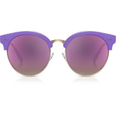 PerverseTaehler %22Estell%22 Lavender Round Browline Sunglasses