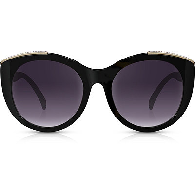Perverse Power House %22Blackout%22 Black Oversize Square Sunglasses