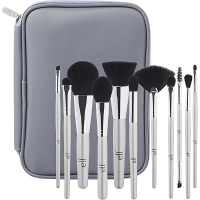 e.l.f. Cosmetics Online Only Silver 11 Piece Brush Collection