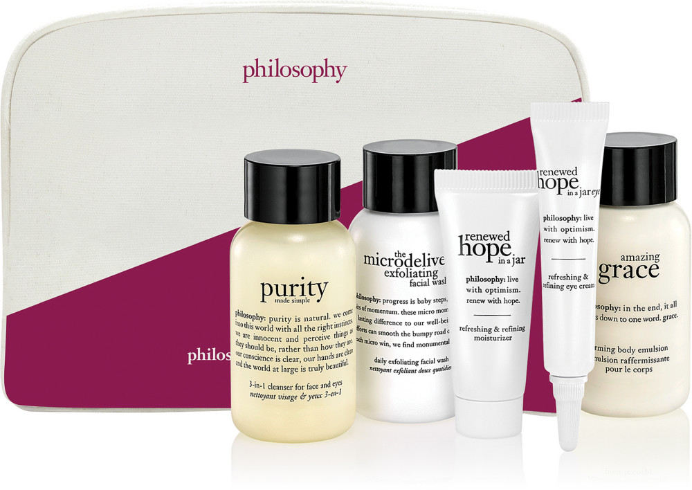 Receive a free 5-piece bonus gift with your $50 Philosophy purchase