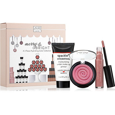 Laura Geller Online Only Merry %26 Bright 3 Piece Hydrating Color Collection