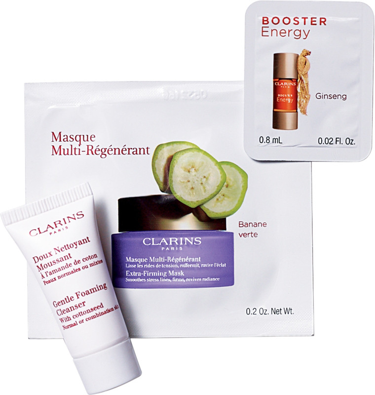 Receive a free 3-piece bonus gift with your $60 Clarins purchase