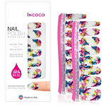 Incoco Nail Polish Appliqués - Nail Art Designs Chemistry (vibrant paint splatters on shimmery white)