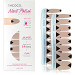 Incoco Nail Polish Appliqués - Nail Art Designs Apex (bold reverse French triangle on a soft, shimmery gold)