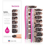 Incoco Nail Polish Appliqués - Nail Art Designs Behind the Scenes (black lace and shimmery soft gold)