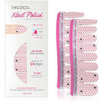 Incoco Nail Polish Appliqués - Nail Art Designs First Date (pale pink with dots and scribbled hearts)
